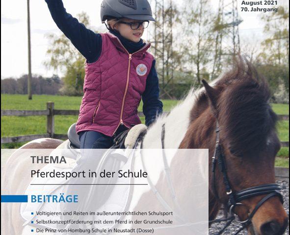 Titelbild Zeitschrift Sportunterricht 08_21
